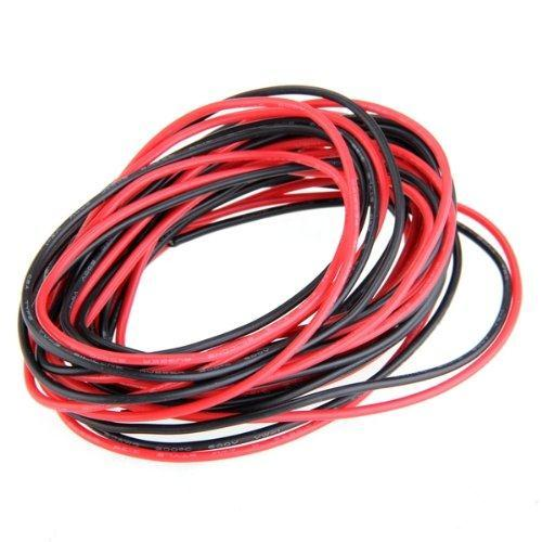 2x 3M 20 Gauge AWG Silicone Rubber Wire Cable Red Black Flexible IN STOCK FREE SHIPPING