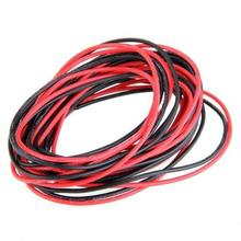 2x 3M 20 Gauge AWG Silicone Rubber Wire Cable Red Black Flexible, IN STOCK, FREE SHIPPING