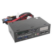 Portátil Tudo Em um Painel de 1 Mídia 5.25 Polegada 525F20 CD ROM Painel Multifuncional Leitor de Cartão USB Leitor de Cartão de Memória Flash(China (Mainland))