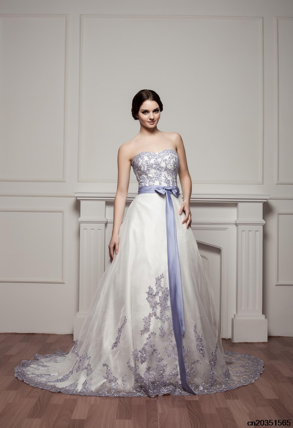 2015 royal blue and white wedding dresses with strapless for My perfect wedding dress