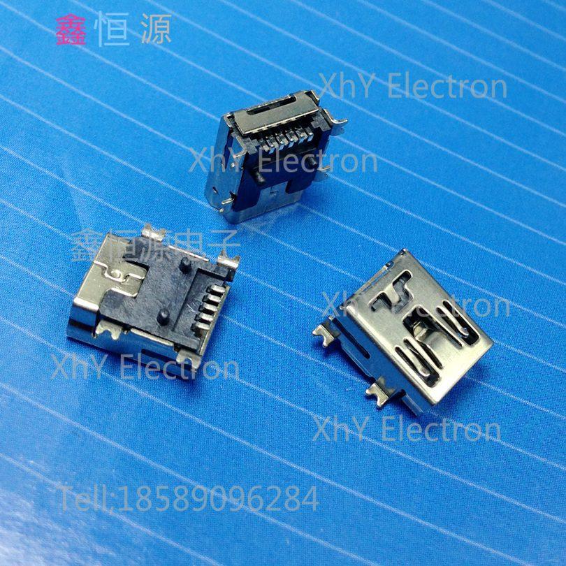 Гаджет  USB socket MINI USB 5P female SMD connector Mini USB Interface 5Pin USB female seat  mp3/mp4 None Электротехническое оборудование и материалы