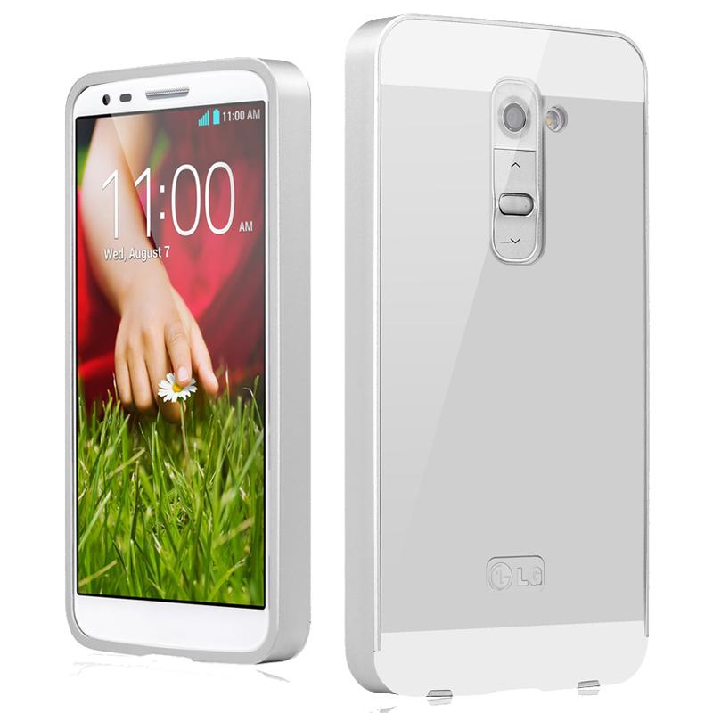 Luxury Metal Case For LG Optimus G2 D802 D801 Aluminum Frame Acrylic Panel Cover Case Ultrathin Hard Phone Shell(China (Mainland))