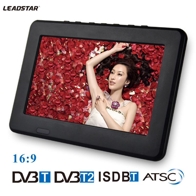 Leadstar,9 inch 16:9 TFT DVBT2/DVBT digital & analog mini led HD portable TV all in 1 Support USB record TV program(China (Mainland))