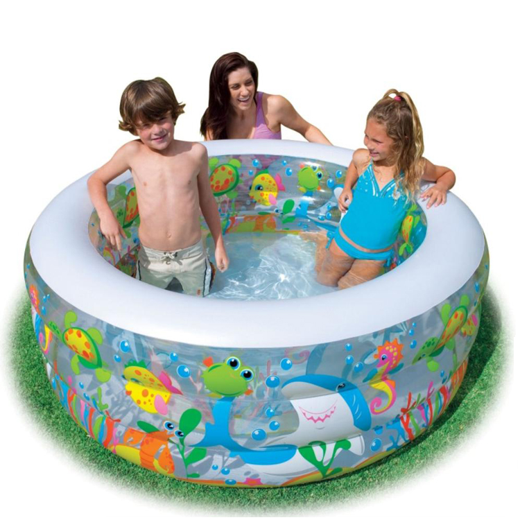 Ultralarge paddling pool intex inflatable family swimming for Family paddling pool