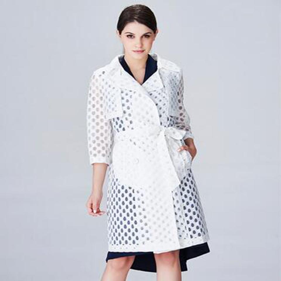 Spring new European and American fashion hollow Lei mesh yarn women's coat female coat(China (Mainland))