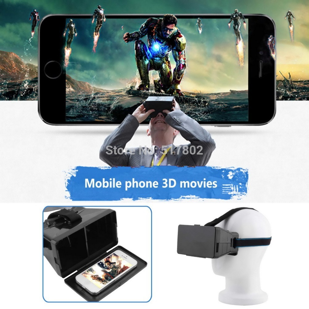 Universal Virtual Reality 3D Video Glasses Google Cardboard VR Movies Games Resin Lens 3.5~6 inch smartphone - Shopping In Lisa's Store store
