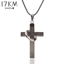 Fashion Cross Stainless Steel necklace for men's Rope Chain Scriptures cross necklaces statement jewelry Best Friends CS13(China (Mainland))