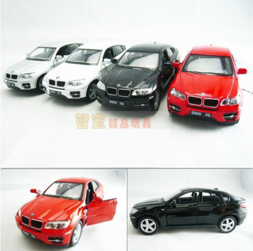 Hot sale Kinsmart super cool 1:38 mini X6 alloy model car toy gift pull back 1pc(China (Mainland))