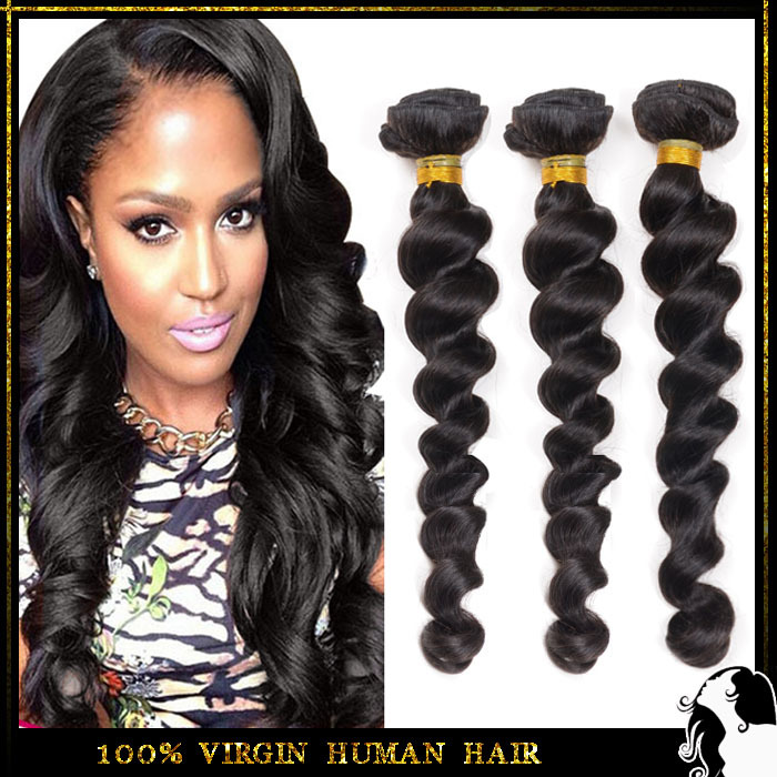 Brazilian Virgin Hair Loose Wave in Human Hair Weave 3pcs/lot Unprocessed 6A+Grade Febay Remy Hair product Free shipping By DHL(China (Mainland))