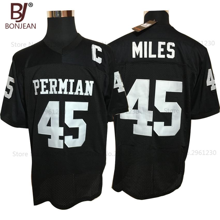 BONJEAN Cheap Boobie Miles 45 Friday Night Lights American Football Jerseys Throwback Stitched Black Mens Jersey(China (Mainland))