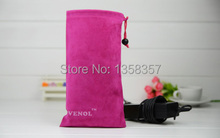 Direct Manufacturer high quality drawstring velvet bag for mobile phoneHDD accessories gift jewelry pouch customized wholesale