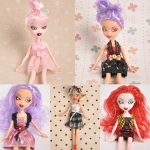 7 Dolla Doll Dress Clothes Garment for 25cm solid body accessory Change clothes get dressed gift for girs  Lucky Girl princess(China (Mainland))