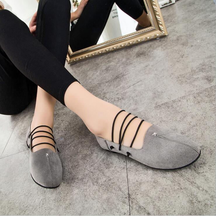 New 2016 Selling Spring summer Casual Women Shoes Women Nubuck Leather Flat Shoes Handsome Head Toe Shoes Y049(China (Mainland))