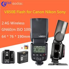 Buy Godox V850II Camera Flash Speedlight 2.4G HSS 2000mAh Li-ion Battery Canon Nikon Canon Pentax Olympas for $129.00 in AliExpress store