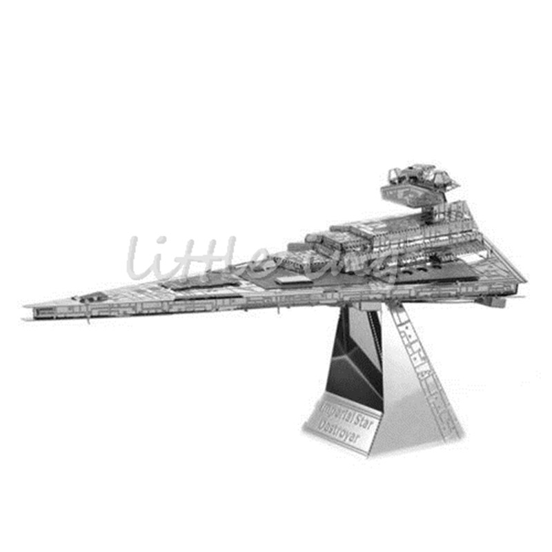 Imperial Star Destroyer 3D Model Metal Nano Matellic Jigsaw stereoscopic Puzzles Robots Miniature Assemble Building Kits Puzzles(China (Mainland))