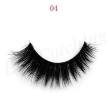 Free shipping eye-catching top quality 1pcs/lot premium lashes 3D thick handmade silk strip lashes(China (Mainland))