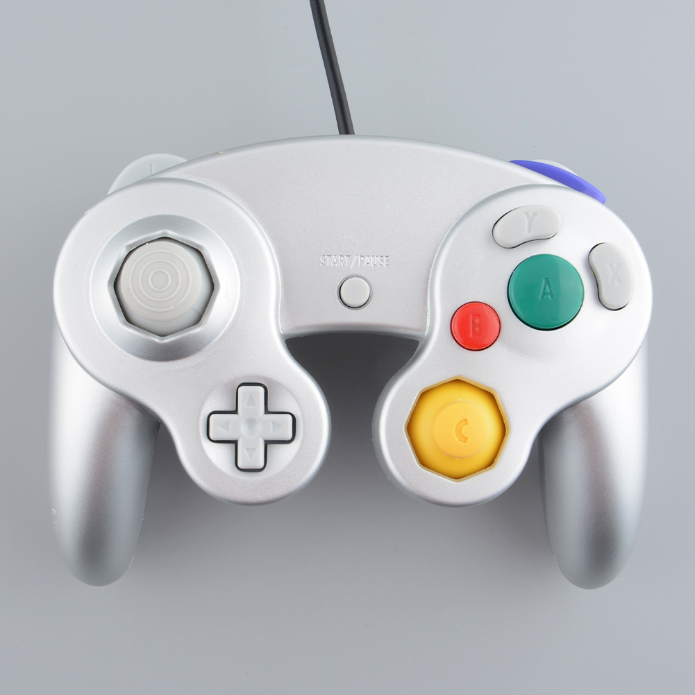 Wired Controller Gamepad Joystick Handheld For Nintendo Wii GameCube NGC Silver Free shippingFree Shipping(China (Mainland))