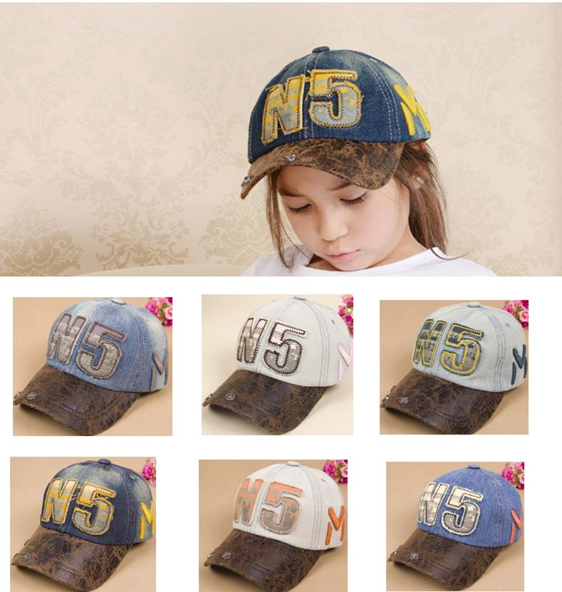 Adjustable Kids Baseball Cap Children Snapback Hats Punk Caps Boys Girls Quality Summer Hats for Children(China (Mainland))