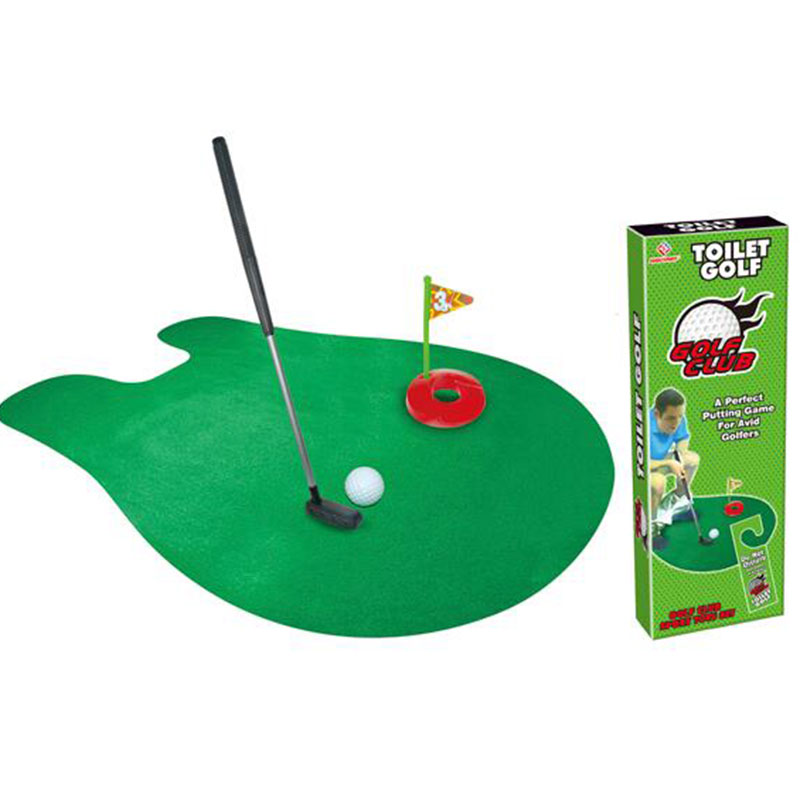 Toilet Bathroom Mini Golf Game Toys Novelty Gift Practice Models For Adults Toys(China (Mainland))