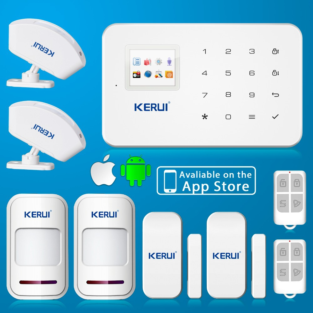 KERUI APP Control Alarmes Home GSM Alarm System Security Alarm System With English Voice <br>