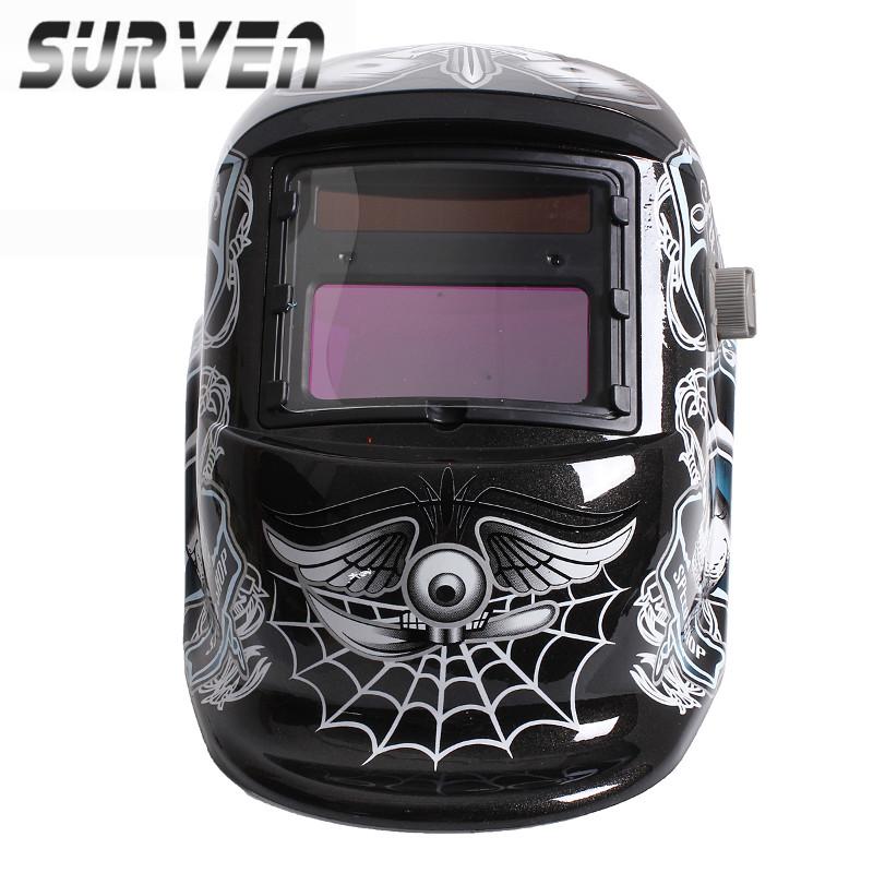 SURVEN Hot Sale Durable Solar Auto Darkening Welding Helmet ARC TIG MIG Weld For Welder Lens Grinding Mask High Quality(China (Mainland))