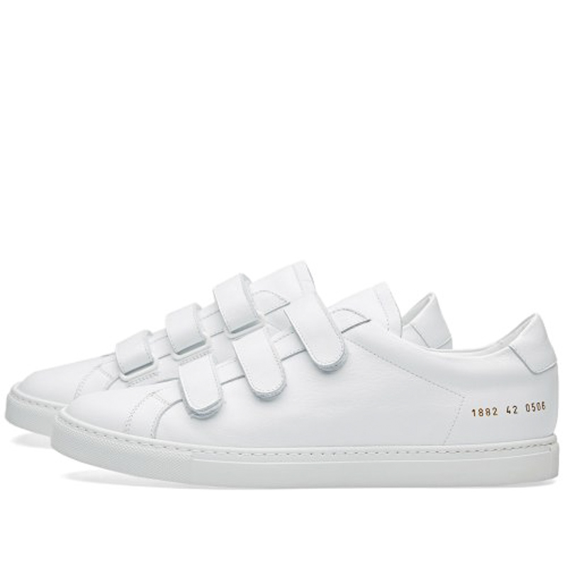 Фотография Italy Brand Original Common Projects Women Men Shoes Spring Autumn Basse White Genuine Leather Sheepskin Casual Shoes Chaussure