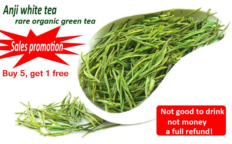 Organic White Green Tea Chinese Tea Super Anji baicha bai cha 100g for health care beauty and slim(China (Mainland))