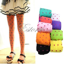 A96 Free Shipping Baby Girls Kids Candy Color Leggings Trousers Velvet Pantyhose Underpants