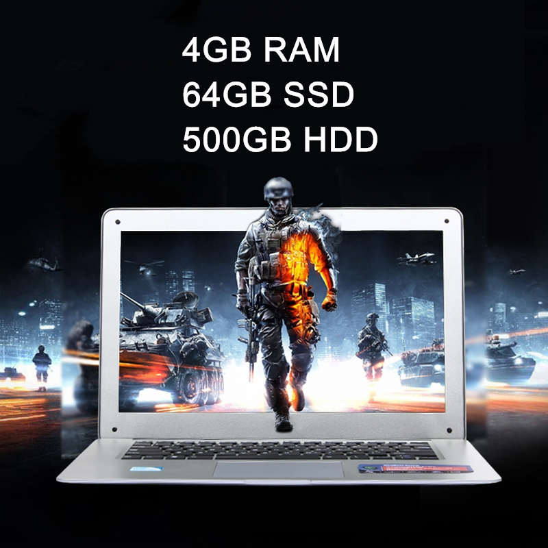 4GB+64GB+500GB 14 inch ultra-thin laptop notebook computer Quad core Celeron J1900 windows 8.1 system ultra book, free shipping(China (Mainland))