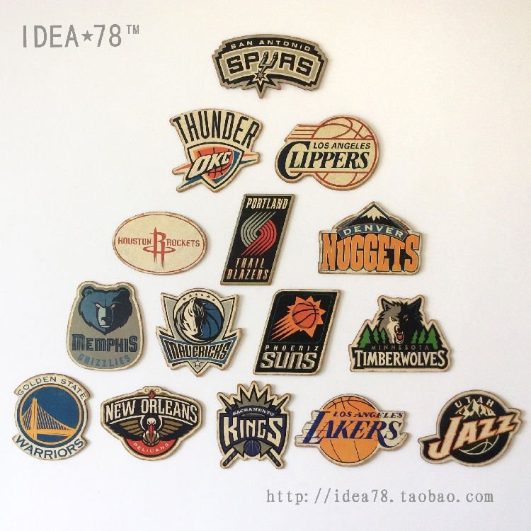 West 15 team badge basketball decorative board retro decorative wall painting doorplate bar plate affixed sign drawing board(China (Mainland))