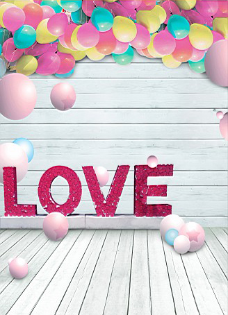 600CM*300CM backgrounds Love love lovers object interaction balloon round wooden floor walls photography backdrops photo LK 1193<br><br>Aliexpress
