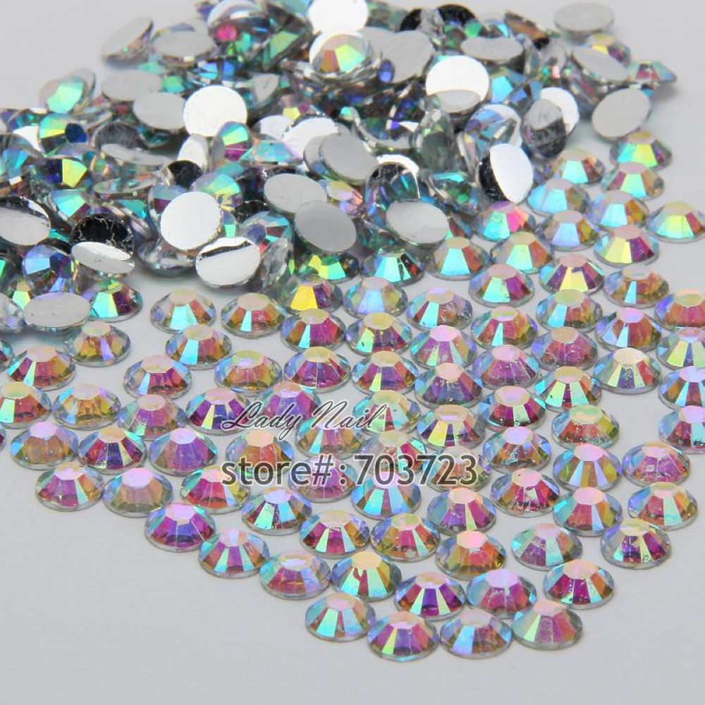 Гаджет  1000 pcs 3mm ss12 AB Colorful Crystal Resin Round Rhinestone Flatback Rhinestones 14 Facets DIY Nail Art Decoration Beads N22 None Дом и Сад
