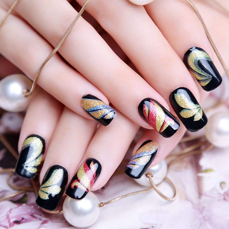 16color water transfer foil nails art sticker mystery galaxies design manicure decor decals - Foil nail art ...