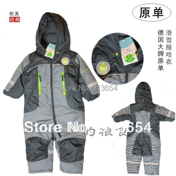 new 2014 autumn winter romper baby clothing child cotton jumpsuits baby romper waterproof thick baby boy ski suit