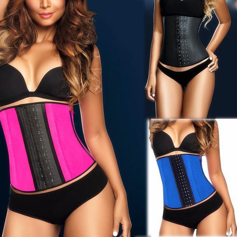 New Arrivel!2015 Women Corset Steel Boned Waist Training Corsets Rubber Latex Corset Underwear Bustiers Slimming Body Shaper(China (Mainland))