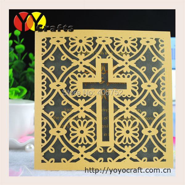 Hot sell elegant christian style invitation cards and greeting cards(China (Mainland))