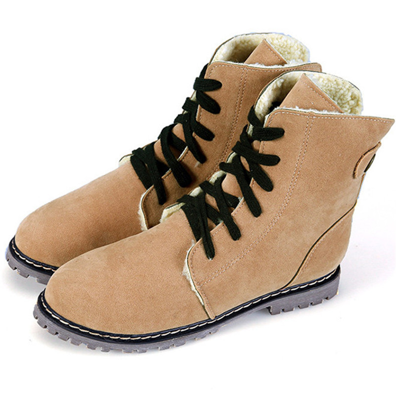 Fashion Womens Winter Martin Shoes With Fur Warm Womens Snow Boots Shoes 2015 New Arrival Womens Boots Shoes Wholesales