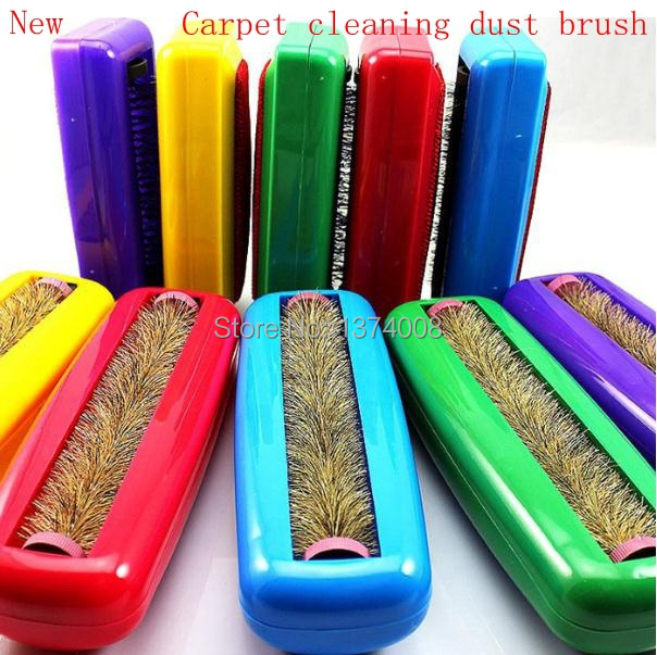 2014 New 2 pcs Large Static Vacuum Tapete Cleaner Dust Catcher Dry Cleaning Static Brush Carpet Blanket Brushs Free Shipping(China (Mainland))