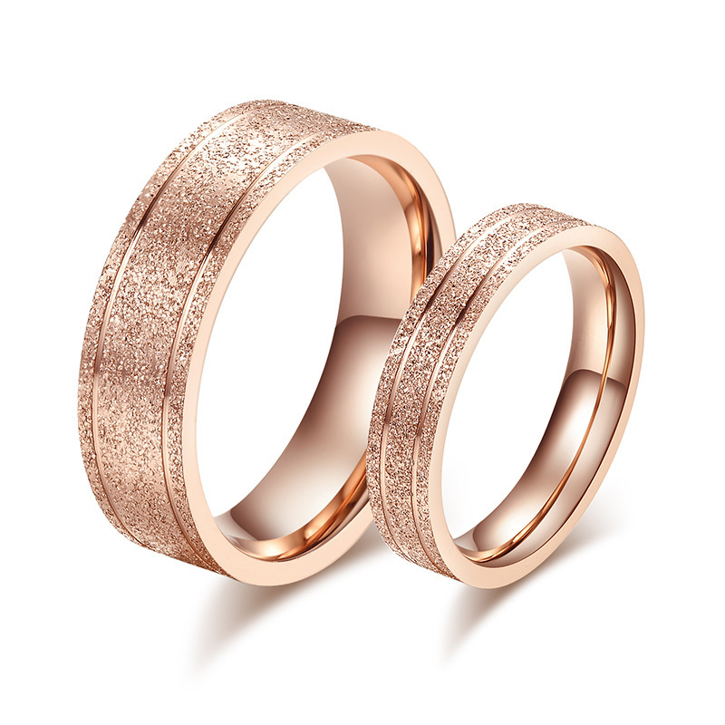 wedding rings for women and men stainless steel rose gold rings