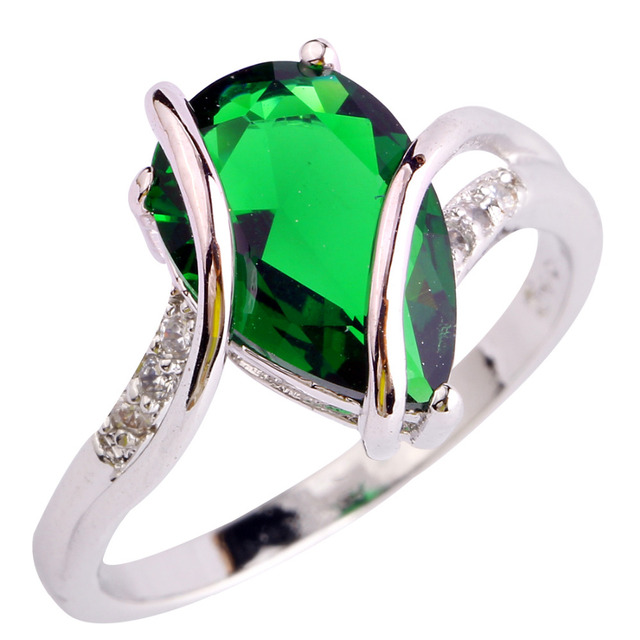 Weiling мода ювелирных изделий водопоглощающий зеленый изумрудный кварц 925 серебряное ...