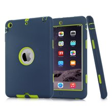 For iPad mini 1/2/3 Retina Kids Baby Safe Armor Shockproof Heavy Duty Silicone Hard Case Cover Screen Protector Film+Stylus Pen(China (Mainland))