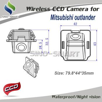 "Wireless CCD 1/3"" parking car rearview camera for Mitsubishi Outlander  car camera  Pixels:728*582 waterproof"