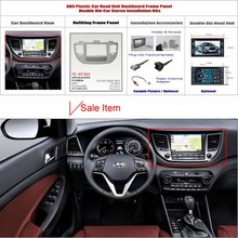 Double 2 DIN Audio Front Surround Frame ABS Panel Fascia Board Hyundai Tucson (LHD) 2015 Dash Mount Kit Adapter Bezel Facia - ACP Store store