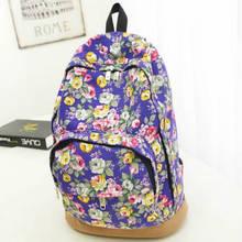 Casual Print Women Backpack Sports Bag Woman s Backpack Big Student School Bag Travel Backpack Flower