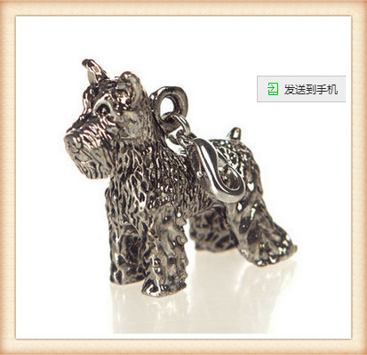 2016 New hot fashion Cute animal Schnauzer Dog key chain small Lovely Pet key ring Anti-Silver Plated brithday gift for friends(China (Mainland))
