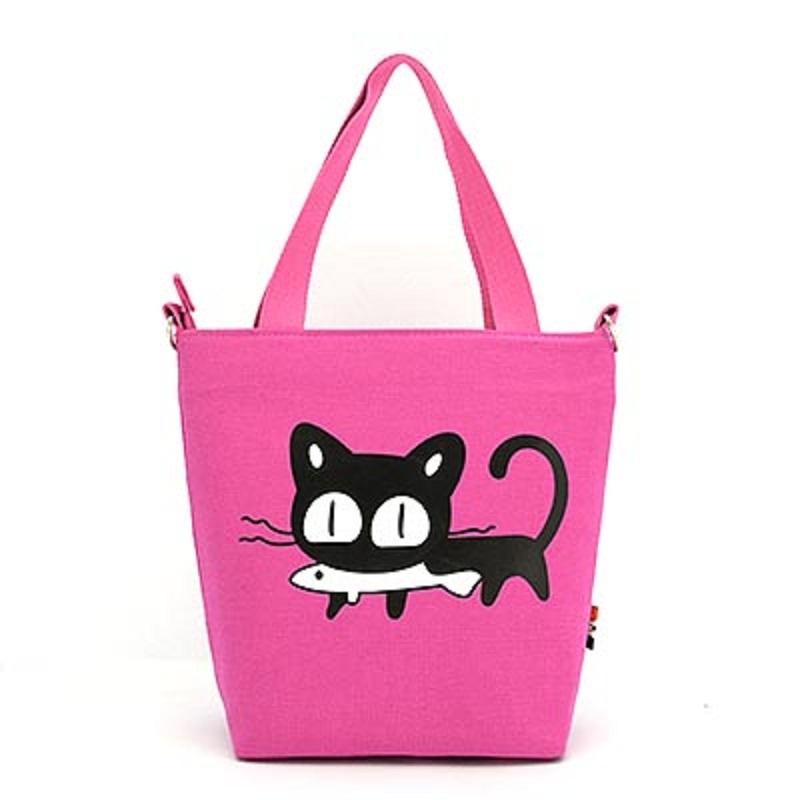 2016 Cute Cartoon Canvas Vertical Tote Bag Animal Pattern Shopping Bag Shoulder Bag Women Handbag Small Bag Bolso Sac de Courses(China (Mainland))