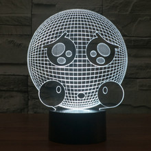 The new expression of seven color LED 3D light visual creative gifts such Nightlight Power Bank Usb Led Table Lamp