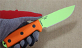 ESEE Green Balde Tactical Hunting Knife Fixed Blade Survival Knife Rowen Small Straight Knife Orange G10