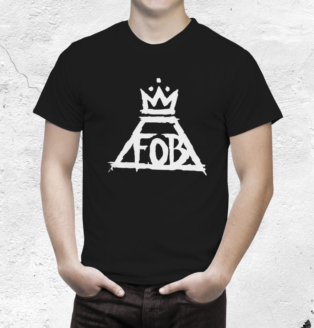 Fall Out Boy New Fashion Man T-Shirt Cotton O Neck Mens Short Sleeve Mens tshirt Male Tops Tees Wholesale(China (Mainland))