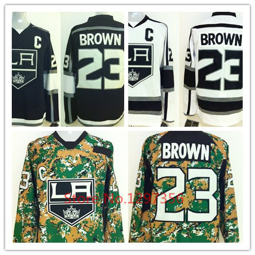 2015 Men's Los Angeles Kings Ice Hockey Jerseys #23 Dustin Brown Jersey Cheap Authentic Stitched LA Kings Jerseys Free Shipping(China (Mainland))